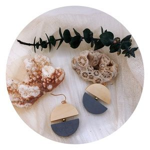 Jewelry - Earrings, handcrafted, natural, wood, accessories